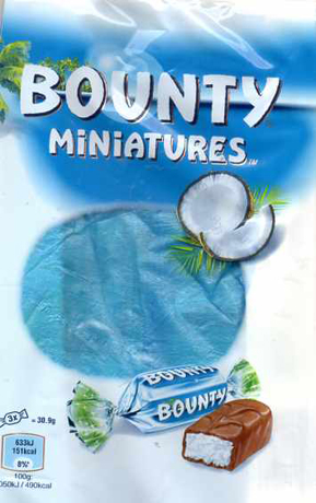 cocos schokoriegel helles blau und weiß