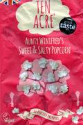 Salz und Zucker Poppcorn in Himmbeerfarbiger Tüte geeignet für Große Sleeves